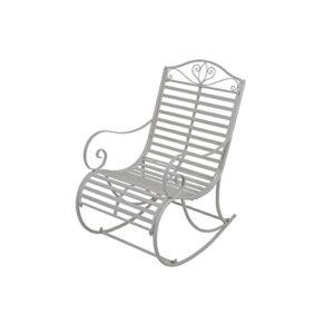 GardenPleasure Schaukelstuhl ♥ Ein schöner Schaukelstuhl für  Terrasse und Garten mit verzierenden Eisenstäben.