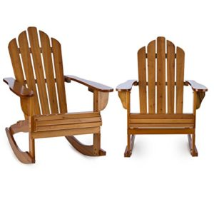 blumfeldt Rushmore Schaukelstuhl  2er Set ♥ Die gemütlichen Gartenstühle sind durch eine nach hinten abfallende Sitzfläche mit tiefer Sitzposition