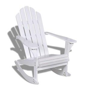Festnight- Garten Schaukelstuhl Holz ♥ Egal ob in der Sonne oder beim Regen kann er im Innen- und Außenbereich