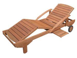 HECHT HEC-ERA Gartenliege ♥ Die Sonnenliege ist aus witterungsbeständigem dunkelbraunen Meranti - Holz gefertigt.