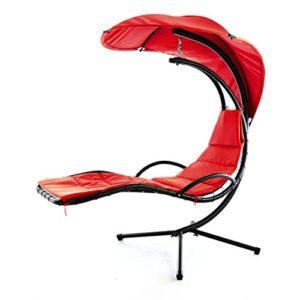 Nexos ZGC34352 Luxus Schwebeliege rot ♥ Die komfortable Hängeliege vermittelt Urlaubsgefühle und lädt zum Sonnenbaden ein
