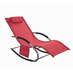 SoBuy Schaukelliege  OGS28-R ♥ Mach deinen Garten, Balkon oder Terrasse zur Wohlfühloase der Entspannung mit dieser Gartenliege