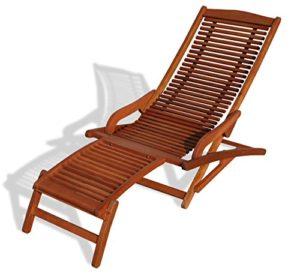 KMH, Relaxliege aus Eukalyptusholz (#101904) ♥ Praktische Sonnenliege - schnell zusammenklappbar für platzsparende Winterverwahrung